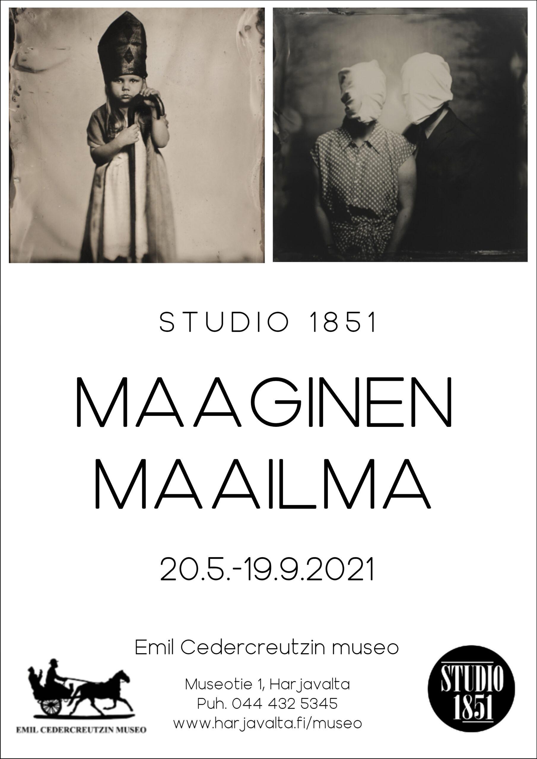Studio 1851: Maaginen maailma -näyttelyn juliste.